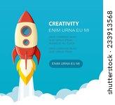 space rocket launch. start up... | Shutterstock .eps vector #233913568