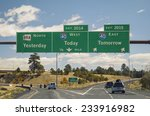 freeway sign on western us... | Shutterstock . vector #233916982