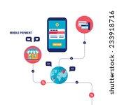 mobile payment online shopping... | Shutterstock .eps vector #233918716