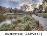 at the lake in central park in... | Shutterstock . vector #233926648