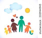 happy family icon multicolored... | Shutterstock .eps vector #233944945