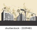 illustration of modern buildings | Shutterstock .eps vector #2339481