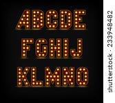 lightbulb alphabet font night... | Shutterstock .eps vector #233948482
