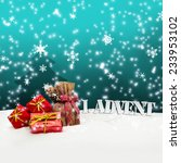 1. advent   gifts   turquoise   ... | Shutterstock . vector #233953102
