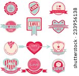 label set love and happy... | Shutterstock .eps vector #233956138
