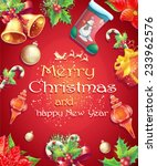 greeting card with christmas... | Shutterstock .eps vector #233962576