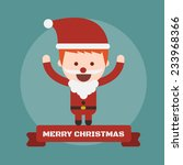 santa claus  vector cartoon... | Shutterstock .eps vector #233968366