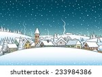 winter landscape | Shutterstock .eps vector #233984386