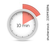 ten minutes stopwatch timer. 10 ... | Shutterstock .eps vector #233993896