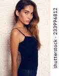 fashion studio photo of... | Shutterstock . vector #233996812