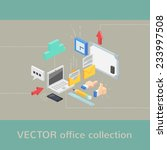 vector office objects... | Shutterstock .eps vector #233997508