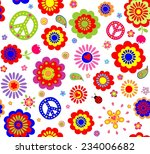 Hippie Wallpaper With Abstract...
