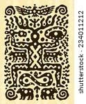ethnic tribal native... | Shutterstock .eps vector #234011212