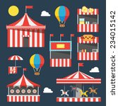 flat design of carnival... | Shutterstock .eps vector #234015142