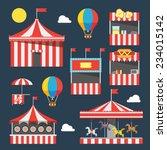 flat design of carnival... | Shutterstock .eps vector #234015142