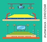 flat design of sport stadium...   Shutterstock .eps vector #234015268