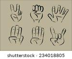hand icon. vector | Shutterstock .eps vector #234018805