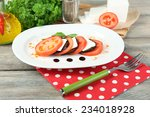 eggplant salad with tomatoes... | Shutterstock . vector #234018928