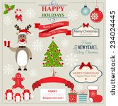 christmas decoration vector... | Shutterstock .eps vector #234024445