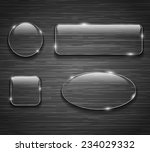 glass buttons on brushed... | Shutterstock .eps vector #234029332