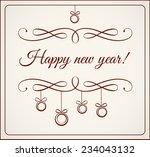 calligraphy happy new year | Shutterstock .eps vector #234043132