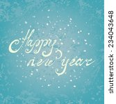 happy new year. christmas card. ... | Shutterstock .eps vector #234043648