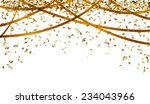 falling oval confetti and... | Shutterstock .eps vector #234043966