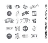 catchwords set. words included  ... | Shutterstock .eps vector #234047248
