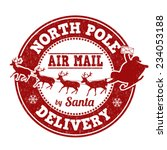 north pole delivery grunge... | Shutterstock .eps vector #234053188