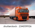 truck at sunet | Shutterstock . vector #234059926