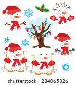 snowman vector illustration | Shutterstock .eps vector #234065326