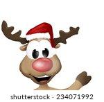 Cute Reindeer Says Hello Hi