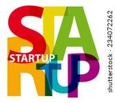 vector startup. broken text   Shutterstock .eps vector #234072262