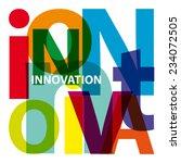 vector innovation. broken text | Shutterstock .eps vector #234072505