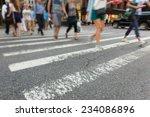 people walking on zebra crossing | Shutterstock . vector #234086896