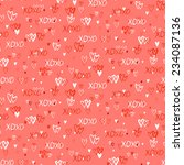 grunge vector seamless pattern... | Shutterstock .eps vector #234087136