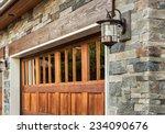 garage door detail of  luxury... | Shutterstock . vector #234090676