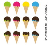 ice cream icon set | Shutterstock .eps vector #234090832