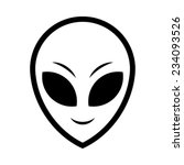alien head vector icon | Shutterstock .eps vector #234093526
