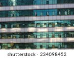 clouds reflected in windows of... | Shutterstock . vector #234098452