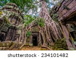 Panorama Of Ancient Stone Door...