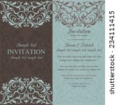 antique baroque invitation card ... | Shutterstock .eps vector #234111415
