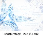 abstract technology business... | Shutterstock .eps vector #234111502