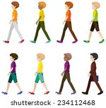 eight boys walking without... | Shutterstock .eps vector #234112468