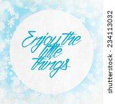 merry christmas season... | Shutterstock . vector #234113032