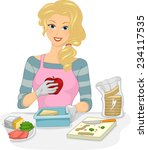 illustration featuring a woman...   Shutterstock .eps vector #234117535