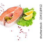 fresh salmon steak. isolated on ... | Shutterstock . vector #234118912