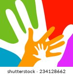 children and adults hands... | Shutterstock .eps vector #234128662