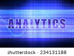 analytics on a tech business... | Shutterstock . vector #234131188