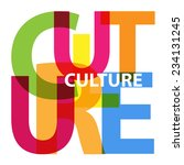 vector culture. broken text | Shutterstock .eps vector #234131245
